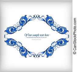 Watercolor blue vector background?