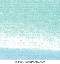 Watercolor blue vector hand paint texture, abstract isolated on white background