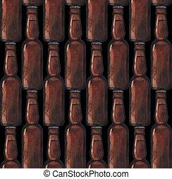 Watercolor bottle of beer