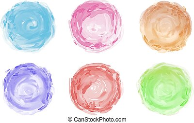 Watercolor brush isolated on white background vector illustration
