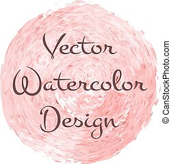 Watercolor brush spiral design for advert backdrop. Vector...
