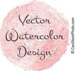 Watercolor brush spiral design for advert backdrop. Vector...