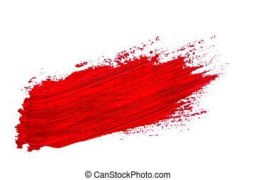 watercolor brush stroke - brush stroke isolated on white...