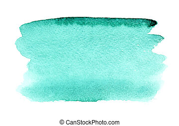 Watercolor brush strokes - Green watercolor brush strokes - ...