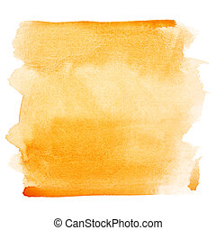 Watercolor brush strokes - Orange watercolor brush strokes -...