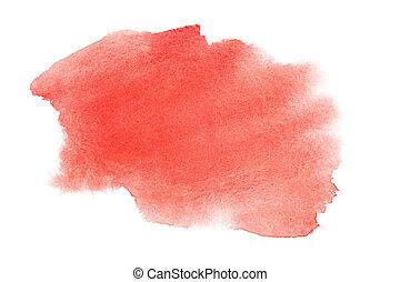 Watercolor brush strokes - Red watercolor brush strokes - ...