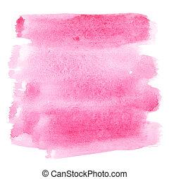 Watercolor brush strokes - Pink watercolor brush strokes -...