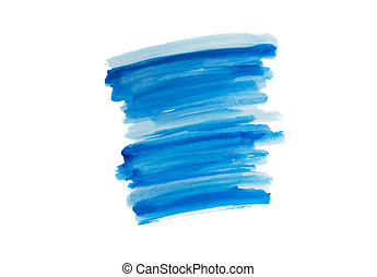 Watercolor brush strokes - White and blue watercolor brush...