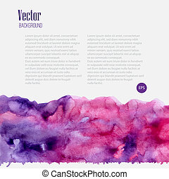 Watercolor business template with pink blots