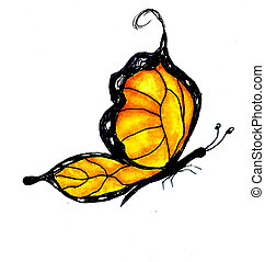 Watercolor Butterfly Design