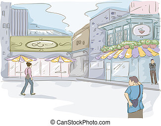 Watercolor Cafe