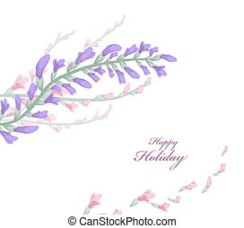 watercolor card with spring cherry