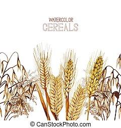 Watercolor cereals design
