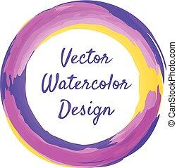 Watercolor circle frame