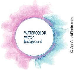 Watercolor circle hand paint on white background - Abstract ...