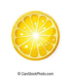 watercolor, citrus