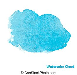 Watercolor Cloud for Your Design