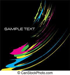 watercolor contemporary design template background vector ...