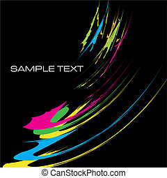 watercolor contemporary design template background vector...