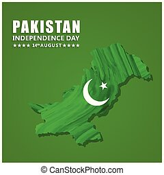watercolor country map with creative typography. Pak Wallpaper. New Pakistani Freedom Day 2017. Vector 14 August Pakistan Independence Day. Celebration Card. Illustration