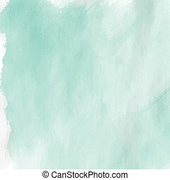 Light green watercolor textured crumpled paper. Vector illustration.