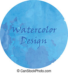 Watercolor deep blue