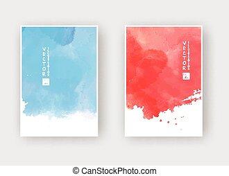 Watercolor design banner set vector illustration eps10