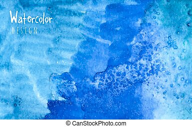 Watercolor design element blue Water