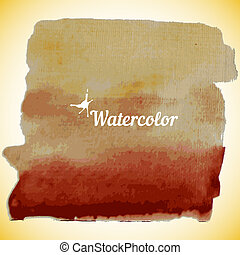 Watercolor design element for the realization