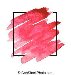 Watercolor design for headline, logo and banner. - Vector...