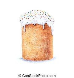 Watercolor easter cake