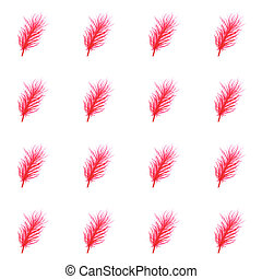 Watercolor feathers abstract seamless pattern background....
