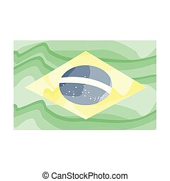 Watercolor flag of Brazil