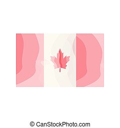 Watercolor flag of Canada
