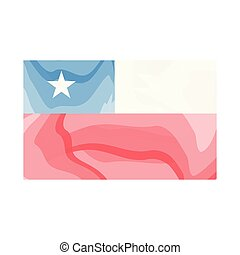 Watercolor flag of Chile