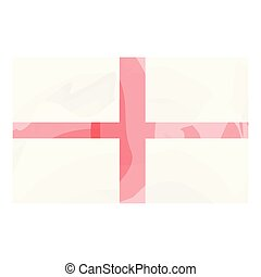Watercolor flag of England