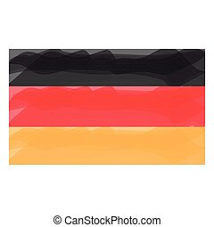 Watercolor flag of Germany