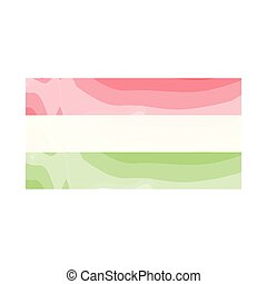Watercolor flag of Hungary