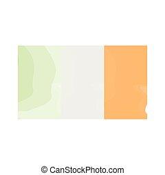 Watercolor flag of Ireland