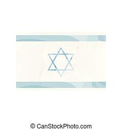 Watercolor flag of Israel