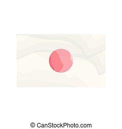 Watercolor flag of Japan