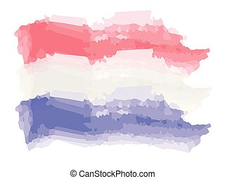 Watercolor flag of the Netherlands
