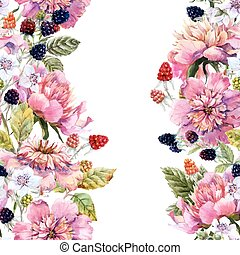 Watercolor floral composition - Beautiful image with nice...