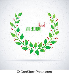 Watercolor floral - Vector illustration of Watercolor floral