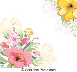 Watercolor flowers lily background