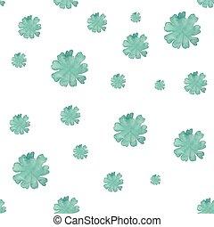 Watercolor flowers seamless pattern. Vector