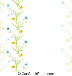 watercolor flowers spring seamless pattern