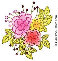 Watercolor Flowers Vector Design