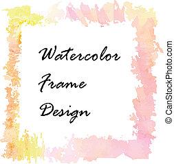 Watercolor frame design.