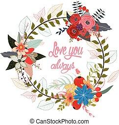 watercolor garland flowers
